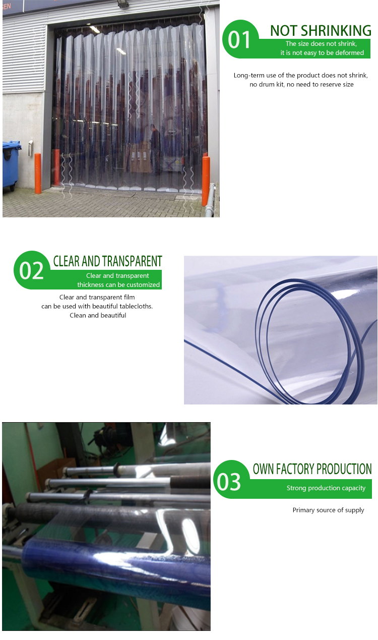 clear pvc transparent film plastic roll