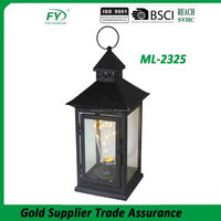 Vintage classical home and garden decoration popular LED bulb metal lantern