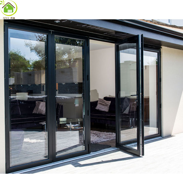 China suppliers support tempered double glazed aluminum casement doors and fixed screen