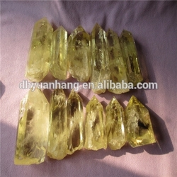 hot sale middle quality cheap rock citrine quartz crystal points for sale,fengshui products