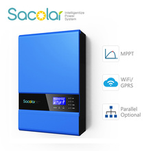 European power wifi/GPRS remote control solar hybrid inverter with backup battery for ups function