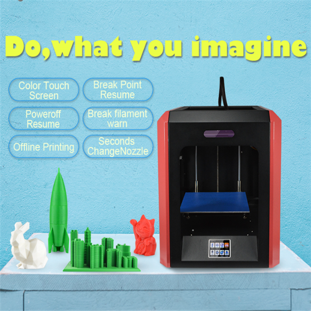 2017 personal 3d printer parts and Provide ODM service 3d printer in china with touch screen