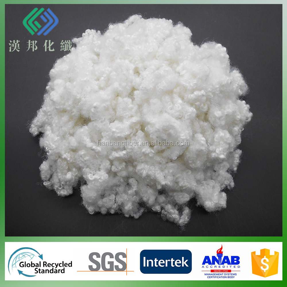 15D HCS virgin psf super white color poliester fiber manufacturers in china
