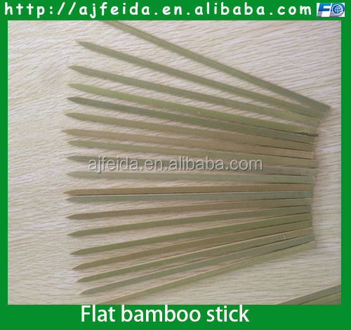 Flat bamboo stick wholesale