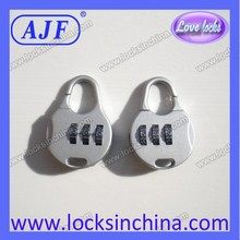 AJF pretty bule 3 digits combination padlock