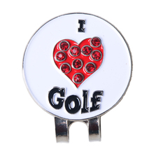 China manufacturer beautiful golf cap clip professional golf ball markers Crystal golf ball marker with magnetic hat clip