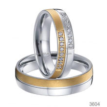 Factory Wholesale gold plated fashion jewelry wedding rings direct
