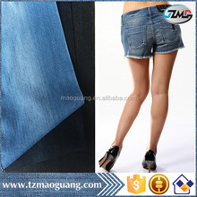 320gsm new arrival high quality best price cotton polyester stretch slub bull denim fabric for girls' jeans and shorts