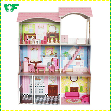 Mini furniture wooden diy miniature doll house