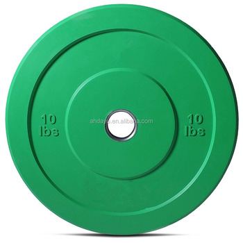 Color Bumper Plate Solid Rubber with Steel Insert for Crossfit, Strength Training