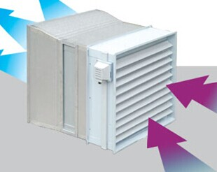 AS activated carbon filter wall mount exhaust fan
