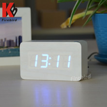 Hot sell wooden led bell alarm clock high quality household items made in china