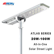 Elegant Integrated Design 5000 Lumens All In One Solar Street Led Light