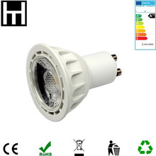 Plástico De Aluminio Ra80 PF0.9 Regulable 5 W COB led gu10 bombillas