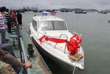 11.6mm fiberglass high speed Patrol boat and bullet proof boat