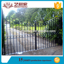 Baby safety outdoor wrought iron driveway retractable gate, cheap wrought iron driveway retractable gate