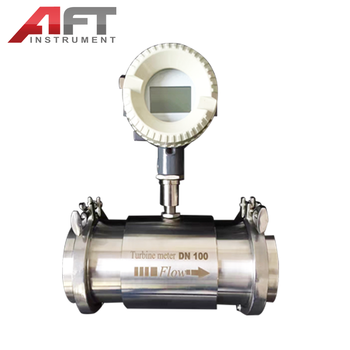 tri clamp sanitary turbine flow meter