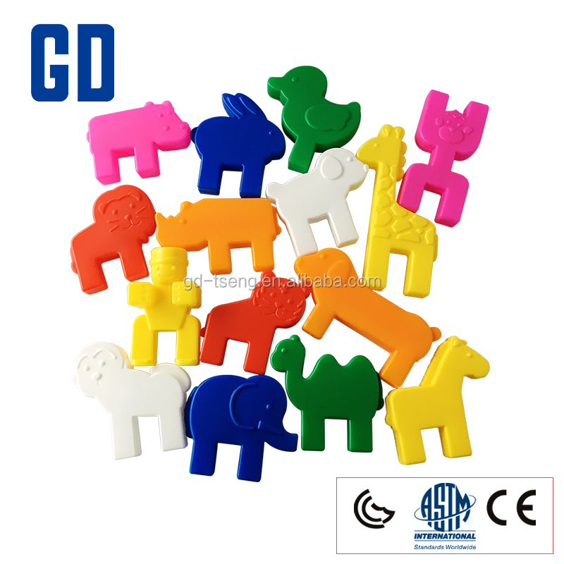 GD 2017-75pcs Animal Carnival Blocks/toy connecting blocks/Creative plastic blocks
