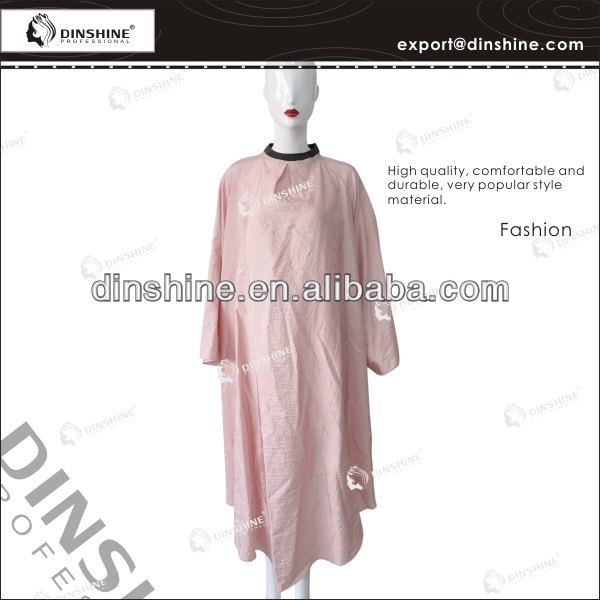 Wholesale half sleeve nylon pink salon cape