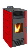 Cast Iron mini 9KW easy handle 220v pellet stove, pellet stove controller with remote controller