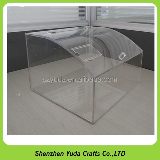 plastic large thing display box acrylic storage packaging square cube