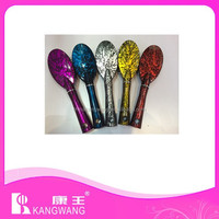 colorful shiny hair brush plastic hair brush