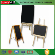 Vintage A frame decorative folding wooden chalkboard with stand