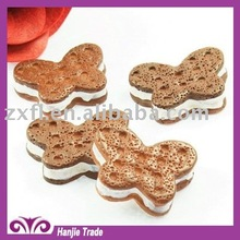 DIY chocolate butterfly sweet biscuit flat bottom resin decoration charms cabochon for beautiful casings