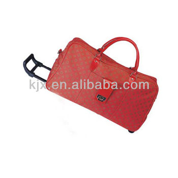 Polyester Leather Luggage Bags with Trolleys on Alibaba