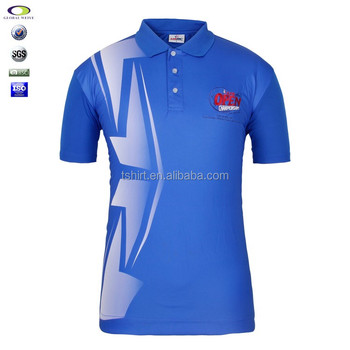 Cheap 100 polyester sublimated dri fit polo shirt for Mens dri fit polo shirts wholesale