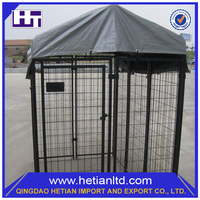 ISO9001 Certificate Temporary Black Waterproof Dog Kennel