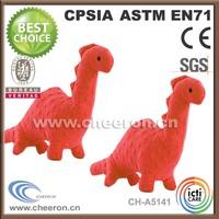 Long neck plush animal mini orange dinosaur toys