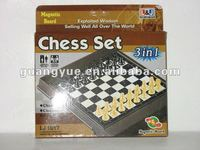 GY99432 Kids magnetic 3 in 1 chess set