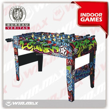 4ft soccer table,Indoor sports color sticker pattern MDF soccer table