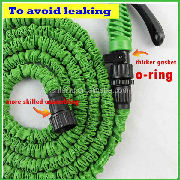 2017 new 100FT latex expandable garden water hose with brass fitting