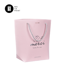 China factory custom cheap pink fancy paper purse gift bags