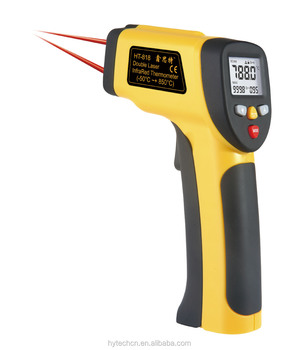 Max Min DIF AVG record HT-817/818 digital dual laser targeting thermometer gun