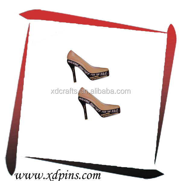 Promotional high-heeled shoes Pin Badge