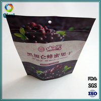 Wholesale dried food zipper plastic packaging pouch bag