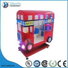 Kiddie rides LonDon Bus red double decker bus coin operated car arcade game machine