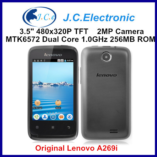 Original Lenovo A269I Dual Core Google Andorid Cell Phone 3.5 Inch Capacitive Screen Singla Camera