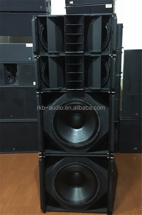 VR-36 stage sound system 3 way daul 10 inch pro line array speaker