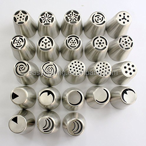 Set of 23 russian stainless steel nozzle Flowers for cupcake