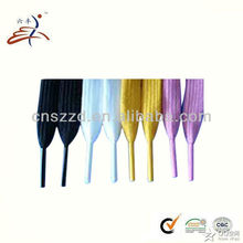 polyester colored flat sport shoelaces