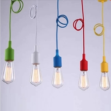 rainbow fabric cable PVC pendant light