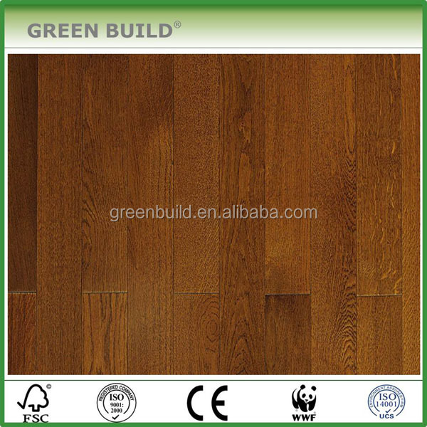 Factory Direct Natural Grain Brushed Teak Color Engineered Wood Flooring <strong>Oak</strong>