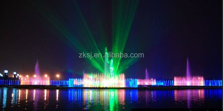 water musical fountain with 3D laser show and water screen movie
