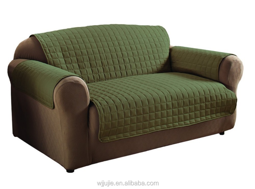 Microfiber Sofa Green Microfiber Sofa With Pillows In A