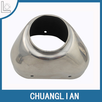 OEM customized high precision Chuanlian steel metal deep drawing part for motorcycle exhaust cap
