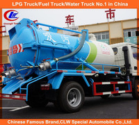 Dongfeng sewage vacuum truck 5000liters sewer cleaning truck 4x2 sewage vacuum truck